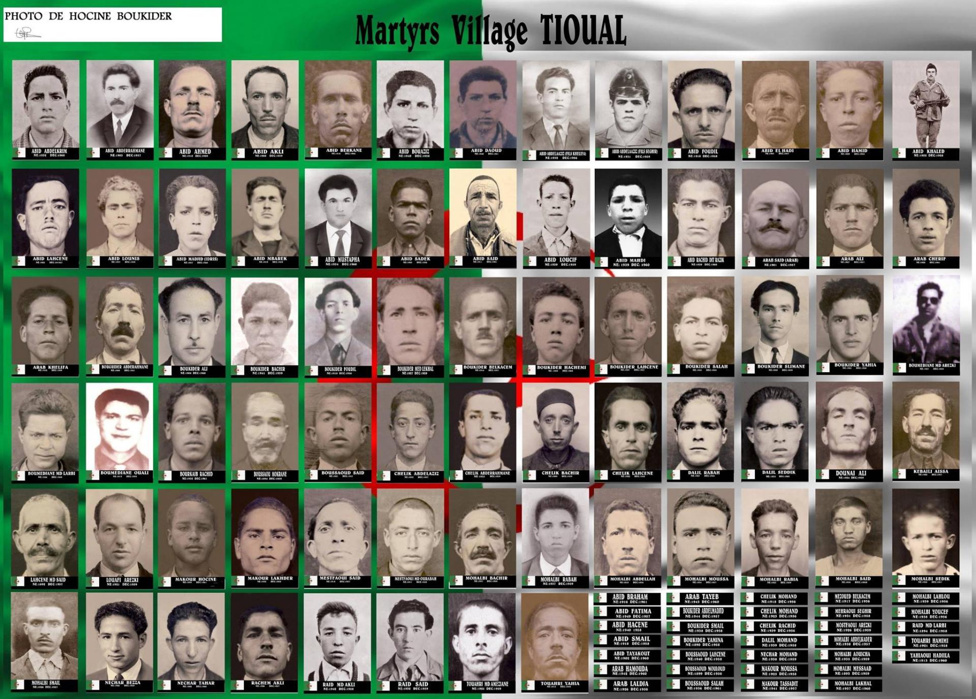 les martyrs du village tiwal